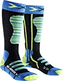 X-Socks Kinder Ski Junior Strumpf, Turquoise/Yellow, 35/38