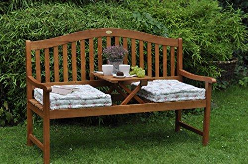 ᐅᐅ】 Gartenbank mit Gravur von Ihrem WUNSCHTEXT mit Tisch in der ...