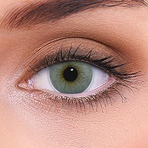 """Stark deckende natürliche graue Kontaktlinsen farbig """"Atlantis Grey"""" + Behälter von LENZOTICA I 1 Paar (2 Stück) I DIA 14.00 I ohne und mit Stärke"""