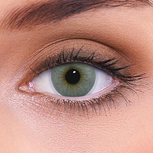 LENZOTICA Sehr stark natürlich deckende graue Kontaktlinsen farbig ATLANTIS GREY + Behälter I 1 Paar (2 Stück) I DIA 14.00 I ohne Stärke I 0.00 Dioptrien
