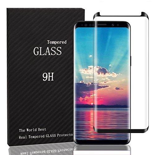 Samsung Galaxy S9/ S9 Plus panzerglas,Displayschutz panzerfolie Schirmschutz für Samsung-Galaxie S9/ S9 Plus Premium Gehärtetem Glas Vollständige Abdeckung (Schwarze Grenze, Samsung Galaxy S9 Plus)