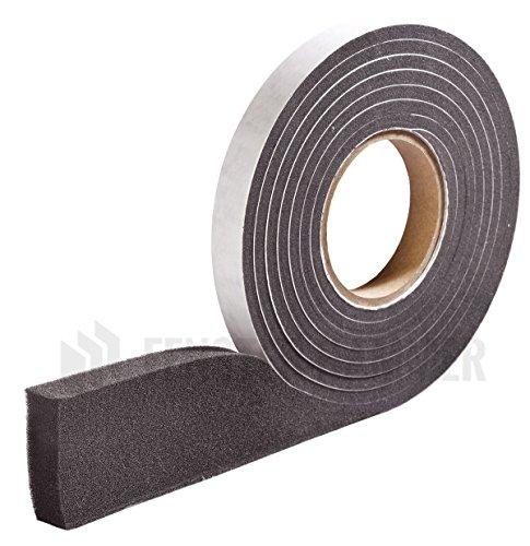 HANNOBAND BG1 Kompriband 10/1,5-2,5 Fugendichtband 600 Pa Quellband Fensterband Fugenband - 12m Rolle, grau