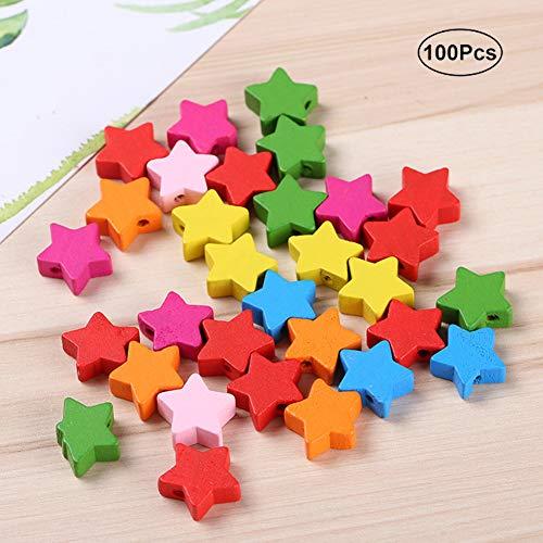 BeesClover 100 pcs Couronne/en Forme d'étoile Perles Multicolores Faite à la Main DIY Craft Bijoux Accessoires Enfants Educational Toys