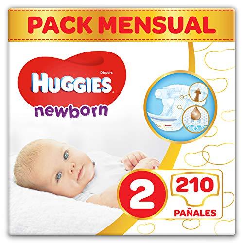 comprar Huggies Newborn Pañales Recién Nacido Talla 2 (3-6 kg) - 210 pañales
