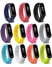 Katai Mi Band 3/4 Straps, Fashion Colorful Soft Silicone Wristbands, Perfect Comfortable Sports Activity Bracelet Wristband for Xiaomi Mi Band 3/ Miband 4(5pcs Color)