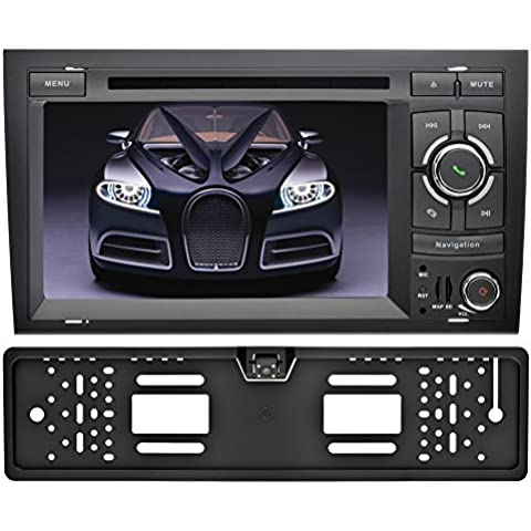 YINUO 7 Pulgada Android 5.1.1 Lollipop Quad Core 2 Din HD 1024*600 Autoradio Reproductor De DVD GPS Navigation Para Audi A4 ( 2002-2008) Soporte DAB / Control Del Volante Bluetooth / AV-IN / 1080p Incluida La Cámara De