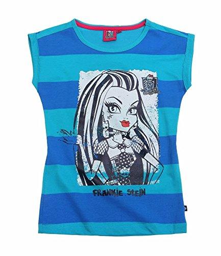 Monster High Mädchen Kinder T-Shirt kurzarm Gr.128 140 152 164 Shirt kurzarm neu, Größe:152, Farbe:türkis