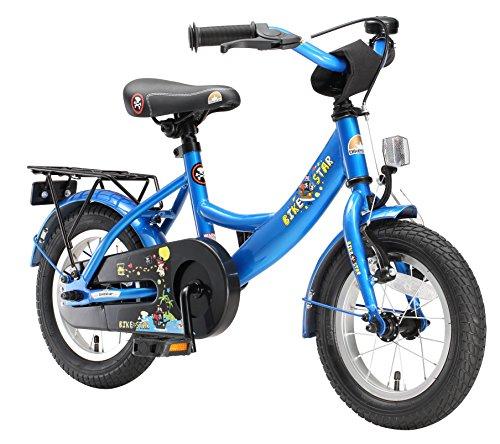 BIKESTAR Kinderfahrrad für Mädchen und Jungen ab 3-4 Jahre | 12 Zoll Kinderrad Classic | Fahrrad für Kinder Blau