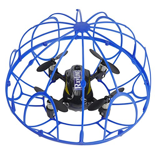 FPS RTF Bundle: Rayline RX3, Schwarz, 2.4G RC NANO Drohne Training Mini Quadrocopter, Trainingsdrohne mit Käfig, Übungsdrohne, 6 Achsen Gyro, flexibler Schutzkäfig, 3D Flips, inkl. Akku & 3xAA - 4