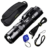 NITECORE NM01 1000 Lumen Small Bright USB Rechargeable EDC LED Flashlight with LumenTac Keychain Flashlight