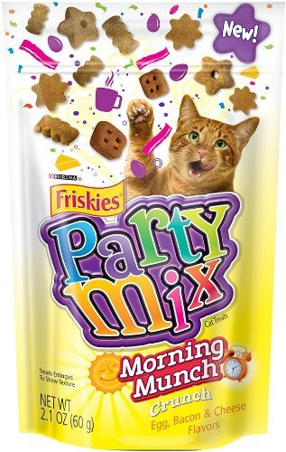 Purina Friskies Party Mix - Morning Munch Crunch - Uovo, Bacon, Formaggio Flavors 2.1 Once (Confezione da 3)