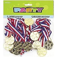 Unique Party 86101 - Winners Medaglie Regalini per Feste, Confezione da 24