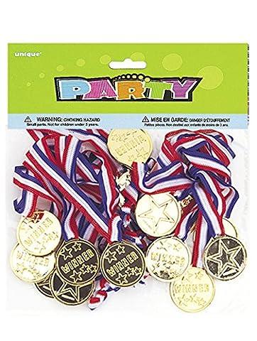 Unique Party - 86101 - Paquet de 24 Médailles