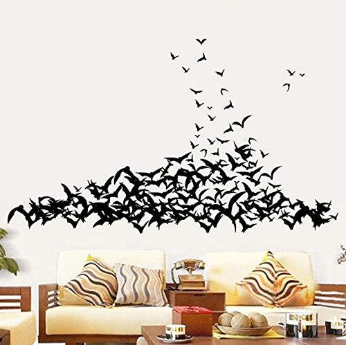 BHLTG Wandaufkleber Happy Halloween Home Room Wandbild Dekorative Aufkleber Abnehmbare Neue Tier Vogel PVC-Aufkleber (Happy Hintergrund Halloween-computer)