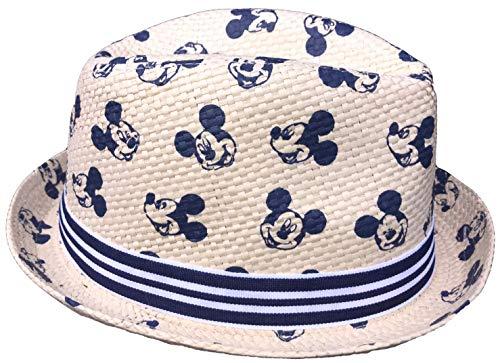 Mickey Mouse Strohhut Havanna Hut Sommerhut Strandhut Gr.52 und 54 blau und rot (blau, 54) (Hut Mickey Mouse)