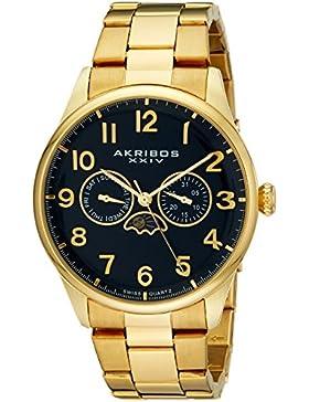 Akribos XXIV Herren-Armbanduhr Analog Quarz AK790YGBU