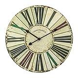 XIAOLVSHANGHANG Clock Runde Wanduhr, Amerikanischen Retro Industrie Stil Wohnzimmer Schlafzimmer Hängen Tisch Restaurant Kreative Uhr Stille Uhr 40 cm
