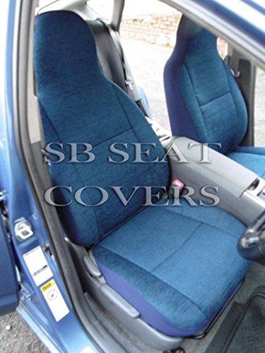 Per Saab 93, Coperture Sedili Auto, Titanio Blu, 2 Fronts