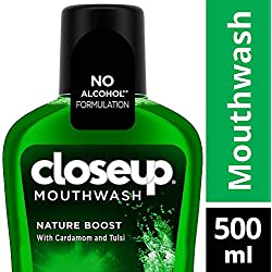 Closeup Nature Boost Mouthwash - 500 ml