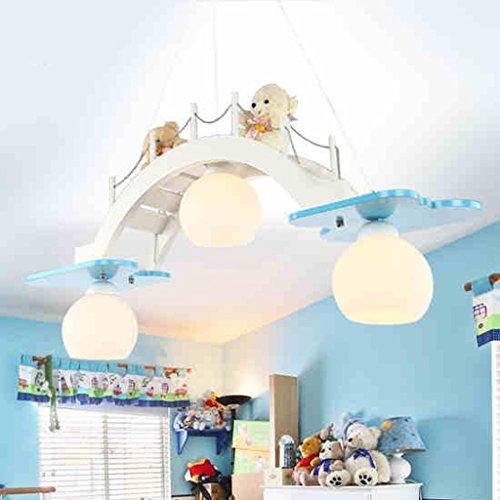 HOME Kinderzimmer Kronleuchter Augenschutz Beleuchtung Junge Mädchen Zimmer Schlafzimmer Lichter Kreative Lampen ( farbe : Blau ) - 4