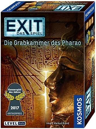 Kosmos Kosmos Kosmos Jeux 692698 – Exit – Le Jeu, la Chambre Funéraire du Pharaon, Les Amateurs Jeu de l'Année 2017 e42a50