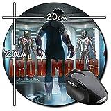 Iron Man 3 Tony Stark Robert Downey Jr D Tapis De Souris Ronde Round Mousepad PC