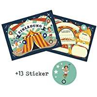 12Circus Kids Birthday Party Invitations with 13Stickers for Boys and Girls/Circus Circus Kids Birthday Party Birthday Invitations Cards Party Invitations