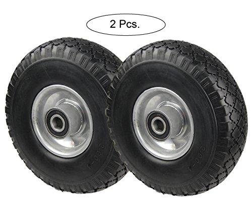 Preisvergleich Produktbild PU Rad 260 mm - Pannensicher, nie wieder Luftpumpen (Schwarz, 2 Stück)