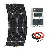 Giosolar Panneau solaire 100W souple kit Panneau solaire chargeur de batterie monocristallin 20A MPPT contrôleur de charge solaire pour bateau caravane Photonic Universe