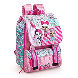 Lol Surprise 93112 Zaino da Scuola, Estensibile, Poliestere, Multicolore