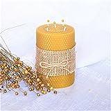 100% Reines Bienenwachskerze Größe 13 x 9 cm Ökologische kerzen Natürlichen Honigduft 100% Handarbeit Deco