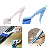 Reinigungsbürste, Winkey Fensterrahmen Tür Schlitz Groove Fell Bürste faltbar mit Schaber Reinigungsbürste, zufällige Farbe