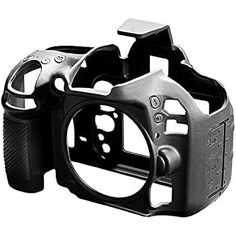 Walimex Pro easyCover - Carcasa protectora de silicona con protector de pantalla para Nikon D600