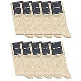 ca·wa·so 10 Paar hochwertige Socken ohne drückende Naht - Damen & Herren - weiche Baumwolle - Business & Freizeit (43-46, beige)