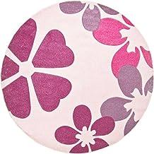 Luxor Living 1100400 alfombra Brest, 120 cm redondo, de color rosa claro