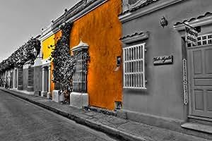 Art-Galerie Acrylglasbild Hady Khandani - COLORSPOT - Cartagena Streets - Colombia - 104 x 70cm - Premiumqualität - HADYPHOTO, Fotografie - Made in Germany SHOPde