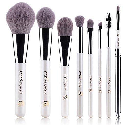 Ensemble de 8 professionnel pinceau maquillage, blanc