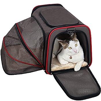 Petsfit Cage de Transport Extensible et Pliable pour Animaux de Compagnie avec Côtés Souples (Grand : 48cm x 30cm x 30cm)