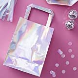 Ginger Ray Iridescent Rainbow Holographic Party Bags 5 Pack - Iridescent Party