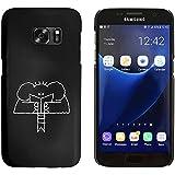 Negro 'Lectura Elefante' Funda / Carcasa para Samsung Galaxy S7 (MC00013219)