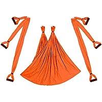 Republe Aerial Yoga Swing Flying Hamaca Conjunto antigravedad 6 empuñadura silla colgante de Fitness Kit Pilates oscilación de la correa