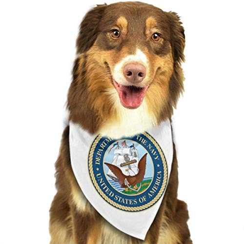 Rghkjlp US Department of The Navy Dog Bandana Collars Triangle Neckerchief Puppy Bibs Scarfs Pet Scarfs Cats and Baby Scarf Towel (Chief Us-navy)