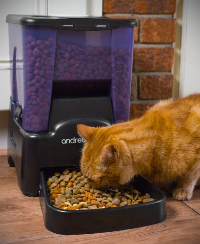 Andrew James Automatic Pet Feeder | Extra Large Pet Food Dispenser with Timer | 10.6L 90 Day Capacity | 10 Portion Sizes… 3