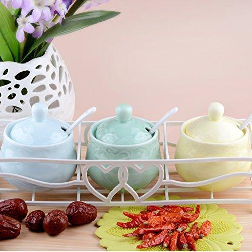 Europäische Keramik Gewürz Jar Küche liefert Kreative IKEA Spice Box Salz würzen 3er-Set-A