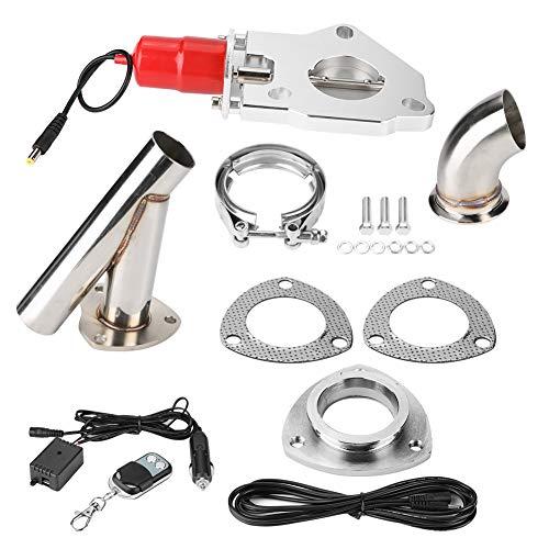 EBTOOLS Kit di spegnimento di scarico per auto in acciaio inox con regolazione a distanza in acciaio inox da 2,25 pollici(Il suono di un'auto sportiva)