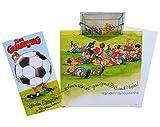 Grußkarte Glückwunschkarte Fußball bewegliche Ausstattung 51-8107
