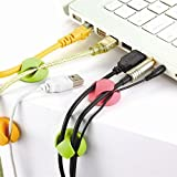 Dual Cable Clip multiplurpose holder organizer self adhesive wire cord with double side tape - set of 6 clips