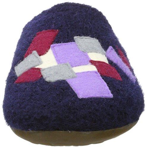 Haflinger Everest Pixel, Chaussons Mules mixte adulte Bleu moyen