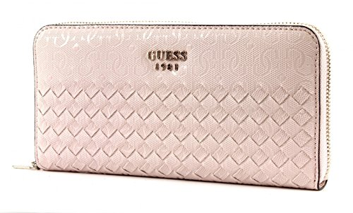 GUESS Flutter SLG Large Zip Around Blush blush