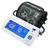 Mpow Misuratore Pressione Sanguigna Digitale,Monitor Automatico a Grande Schermo LCD Retroilluminato con Bracciale a Largo Raggio, Rilevatore di Pressione Arteriosa Anomalo e Rilevatore di Battito Cardiaco Irregolare, Certificato CE, per Uso Domestico e Medico